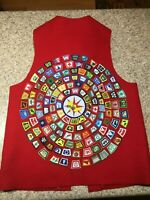 BSA BOY AND CUB SCOUTS BRAG VEST  PLEASE READ DESCRIPTION ABOUT PATCHES