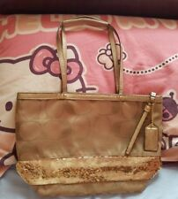COACH LIMITED EDITION METALIC GOLD SIGNATURE TOTE