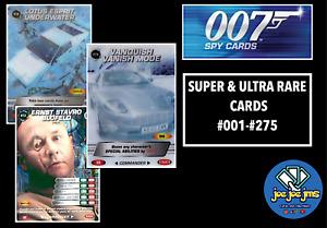James Bond 007 Spy Cards - COMMANDER SUPER AND ULTRA RARE SINGLES - Restocked