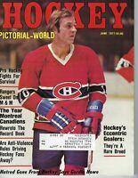 1977 Hockey Pictorial magazine Guy Lafleur, Montreal Canadiens GOOD