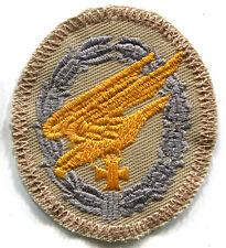 WWII Luftwaffe Fallschirmjager Paratrooper Badge Tropical Afrika Patch Grey/Gold