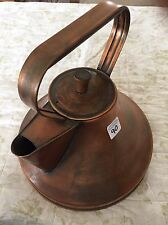 Vintage Steel-Copper Guilded Tea Kettle Tea Pot American Made
