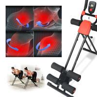 Ab Cruncher Abdominal Trainer Glider Machine Body Fitness Waist Power Exercise