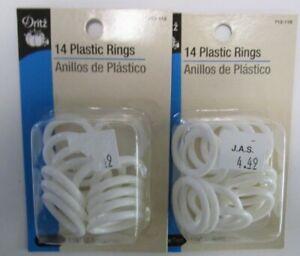 "DRITZ..14 PLASTIC RINGS..1 1/8""..LOT OF 2"