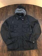 Hugo Boss Windbreaker Showerproof Jacket Detachable Hood Black Size L