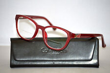 Calvin Klein Collection 7705 S 052 Red Cat Eye Eyeglasses Frames Made in ITALY