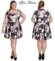 Hell Bunny Spin Doctor Donnatella Gothic Wicca  Renaissance Skater Dress XL-4XL