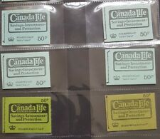 More details for dt9-dt14 full set 50p canada life stitched machin booklets. cat £49+