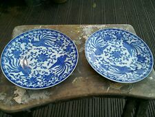 VINTAGE NORITAKE HOWO BLUE AND WHITEPLATES