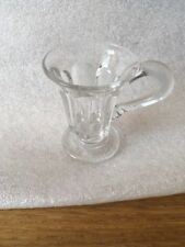 VICTORIAN CUSTARD GLASS CLEAR GLASS SMOOTH PONTIL APPROX 3 INS TALL