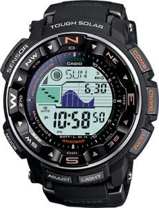 Casio Pro Trek Solar Black Band 56mm Men's Watch PRW2500R-1