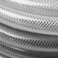 PVC Fiber Reinforced Tube Clear Plastic Hose Pipe - Sold By The Meter