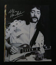 Steve Hackett – Signed book page of legendary Genesis guitarist