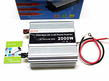 TRANSFORMADOR COCHE INVERSOR CORRIENTE de 2000W 12V A 220V MECHERO ENCHUFE 4134