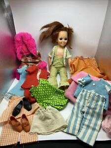 """Ideal Crissy Red Head 18"""" Doll + Several Clothes 1969 Vintage"""