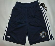 Philadelphia Union Gym Shorts Blue BOYS Medium 10-12 MLS Soccer SAMPLE HOLE