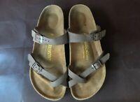 Birkenstock Mayari 39 EU 8 8.5 US Classic Brown Sandals Thong Multi straps Narro