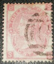 Duzik: Gb Qv Sg103 3d. rose S-B Pl.4 used stamp (No.441) *