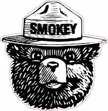 Smokey the Bear Fight Forest Fires Firefighter Vinyl Sticker Decal