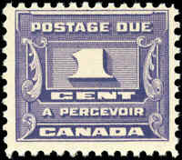 1934 Mint NH Canada F Scott #J11 1c Postage Due Stamp