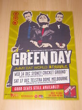 GREEN DAY  -  BULLET IN A BIBLE  AUSTRALIAN TOUR -  LAMINATED TOUR POSTER