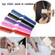 Changeable Blades Hairdressing Double Sided Hair Styling Razor Thinning Comb 1PC