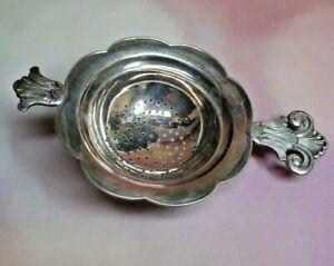 Vtg Thorvald Marthinsen Sterling Silver CLOISTER Tea Strainer, Norwegian Norway