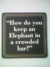 Vintage ELEPHANT BEER    - Cat No'??  Beermat / Coaster