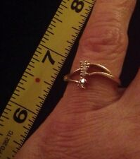 Women's 7 1/2 14K Gold Diamond Ring