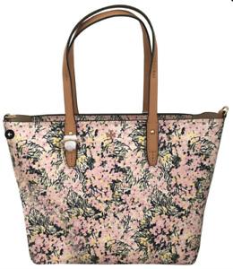 Tory Burch NEW Kerrington Zip Flower Field Tote Bag Dual Leather Straps $248