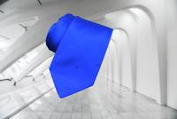 $900 ITALO FERRETTI Royal Blue With Clear Swarovski Crystals Solid Silk Neck Tie
