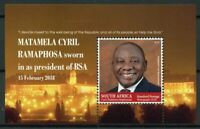 South Africa 2018 MNH President Cyril Ramaphosa 1v M/S Politicians People Stamps