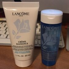 set of Lancome Creme Radiance Clarifying Cream to Foam Cleanser + Tonique