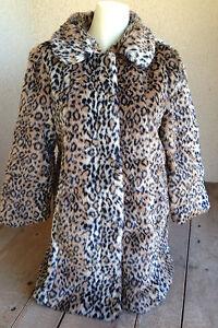 Giselle Faux Fur Jacket 3/4 Sleeve Cheetah Leopard 80 Poly/20 Large NWOT FUN