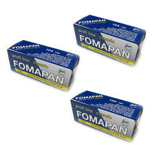 3 Rolls x FOMAPAN 100 Medium Format 120 Profi Line Classic B&W Film by FOMA