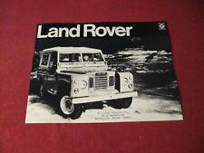 1972 Land Rover Sales Sheet Brochure Booklet Catalog Old Original Book