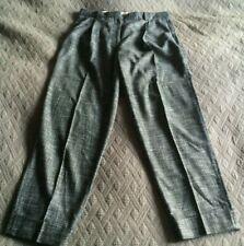 Paul Smith smart wool trousers, sz 48 / 16, black white weave, GC, tucks darts