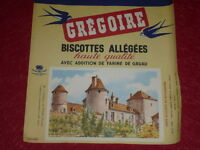 [ART & PUBLICITE, COLLECTIONS] BUVARD ANCIEN / BISCOTTES GREGOIRE 66 Thory