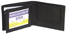Genuine Leather Lambskin Men's Wallet with Change Pocket BLACK #4243 USD