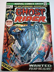 GHOST RIDER #1 Marvel 1st Son Of Satan Hellstrom Johnny Blaze Solo Series VG