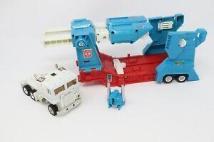 Original TRANSFORMERS G1 ULTRA MAGNUS Rubber-Tire Figure/Trailer VINTAGE Hasbro