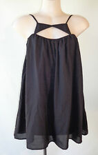 Paper Heart NEW  Black sleeveless long top size 8 NWT lined