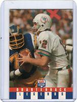1991 QUARTERBACK LEGENDS FOOTBALL CARD # 16 - HOF - BOB GRIESE - MIAMI DOLPHINS