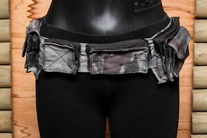 Pocket Belt Grey Army Bum Bag Nylon Hip Pouch Waist Utility Travel Festival