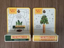 (2) Limited Edition Holiday Xmas Burt's Bees Lip Balms Mint
