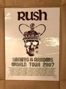 Rush Snakes & Arrows World Tour 2007 Numbered Lithograph Geddy Lee Neil Peart