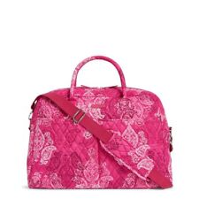 Stamped Paisley Vera Bradley Weekender Travel Trolley Sleeve Carry On Bag Nwt