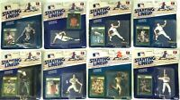 1989 MLB Starting Lineup lot (8) NIB Kenner Figure & Collector Card Sealed