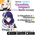 [America/NA] [INSTANT] Genshin Impact Baal Raiden Shogun Fresh Starter Account