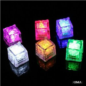12 LED light up ice cube w/ color control -set solid color or rainbow flashing
